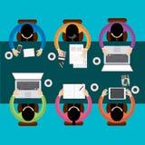 Team Teamwork Business Meeting Concept, Flat style, Infographics Business, vector Stock Photos