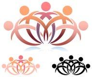 Team work logo Royalty Free Stock Photo