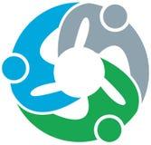 Team work logo Royalty Free Stock Image