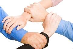 Teams Hands Stock Image