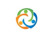 Teamwork education Logo,Social,Team,Network,design,vector,logotype,illustration Stock Photography