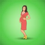 Tebeos de la mujer embarazada Imagen de archivo libre de regalías