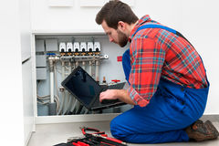 Technician at the work Stock Photography