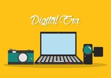 Technologie d'ère de Digital Photographie stock libre de droits