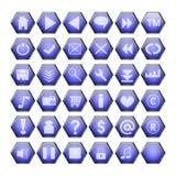 Teclas azuis do Web Foto de Stock Royalty Free