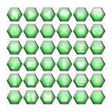 Teclas verdes do Web Imagens de Stock