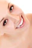 Teen girl beauty face happy smiling Stock Photos