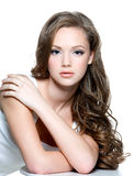 Teen girl with clean skin of the face Royalty Free Stock Image