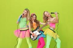 Teens karaoke party fun Royalty Free Stock Images