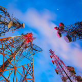 Telecommunication tower Royalty Free Stock Photos