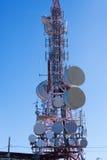 Telekommunikationsantenne für Radio, Fernsehen und Telefonie Stockfoto