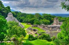 Temples antiques de Maya de Palenque, Mexique Photo libre de droits