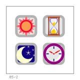 TEMPO: O ícone ajustou 05 - a versão 2 Imagem de Stock