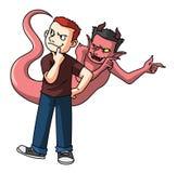 The temptation of Satan Royalty Free Stock Photo