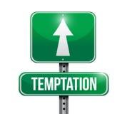Temptation street sign illustration design Royalty Free Stock Image