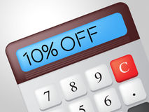 Ten Percent Off Indicates Calculate Offer And Sale Stock Images