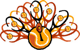 Tennis Thanksgiving Holiday Turkey Graphic Royalty Free Stock Images