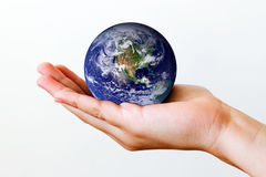 Terra a disposizione Fotografia Stock Libera da Diritti