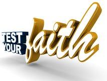Test your faith Stock Image