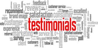 TESTIMONIALS Tag Cloud (customer service satisfaction quality) Stock Photos