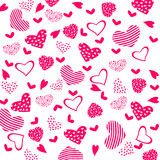 Texture with Hearts Royalty Free Stock Photography