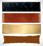 Textured web Banners Royalty Free Stock Photo