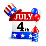 4th of July Calendar Icon Stock Photography