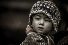 Thai hill tribe child in northern part of Thailand Stock Images