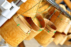 Thai laos bamboo sticky rice container Stock Images