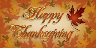 Thanksgiving  Greeting card 3D text Royalty Free Stock Images