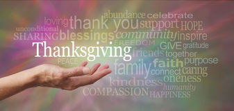 Thanksgiving in the palm of your hand Royalty Free Stock Photography