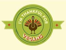 Thanksgiving Vegan badge Royalty Free Stock Photos