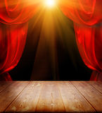Theater curtains Stock Photo