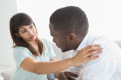 Therapist reassuring her depressed patient Stock Photography