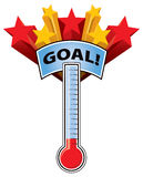 Thermometer Goal Royalty Free Stock Photos