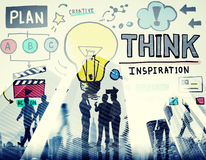 Think Inspiration Knowledge Solution Vision Innovation Concept Royalty Free Stock Images