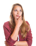 Thoughtful young girl Royalty Free Stock Images