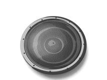 Three dimensional black speaker Stock Photography