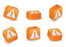 Three-Dimensional Caution Blocks Stock Image
