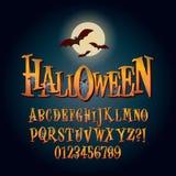 Three Dimensional Halloween Alphabet and Digit Vec Royalty Free Stock Image