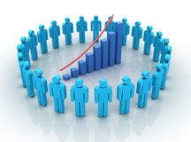 Teamwork Chart Rise Stock Photo