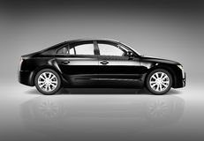 Three Dimensional Image of a Black Luxury Car Royalty Free Stock Photos