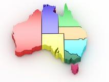 Three-dimensional map of Australia Royalty Free Stock Photos
