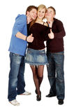 Three friends show that's cool Royalty Free Stock Images