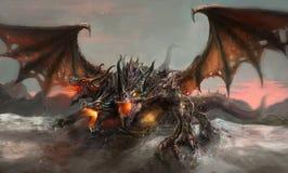 Three headed dragon Stock Photography