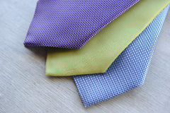 Three popular ties Stock Photos
