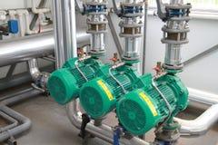 Three powerful pumps Royalty Free Stock Image