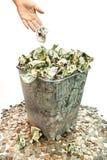 Throwing Away Money Stock Photos