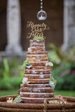 Tiered wedding cake Royalty Free Stock Image