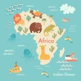 Tierweltkarte, Afrika Stockbilder